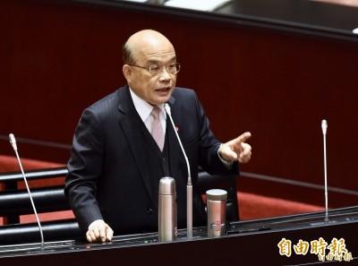 蘇貞昌加強與綠委互動 今晚起分兩批與立委座談