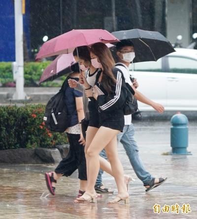 4縣市大雨特報 中南部晚上雨勢加劇慎防淹水