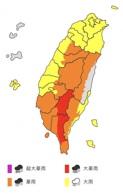 中南部大雨滂沱 彭啟明:雨量已接近易致災