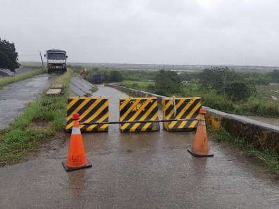 梅雨鋒面襲台  台南9處橋樑封閉