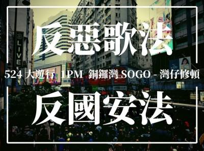 港人明舉辦「反惡歌法大遊行」 港警放話「絕不容忍」