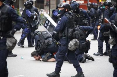 民眾抗議港版國安法 港警:已逮捕40多人