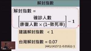 健康網》台大公衛提武漢肺炎解封指數 台灣僅0.07