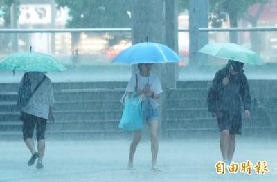 今夜慎防大雨 週三雨勢最強