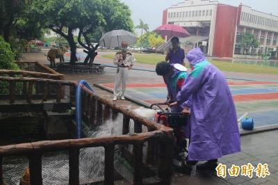 南市地勢低窪學校防汛 小型抽水機月底前到位
