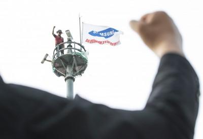 獨坐高塔355天 南韓工人與三星和解結束抗爭