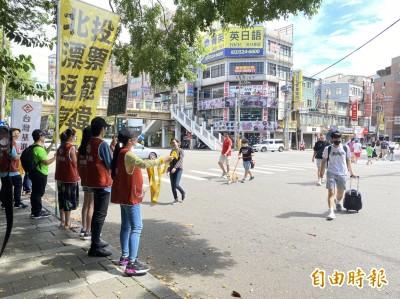 罷韓投票倒數週末 台灣基進、民進黨新竹街頭宣講籲高雄人回家