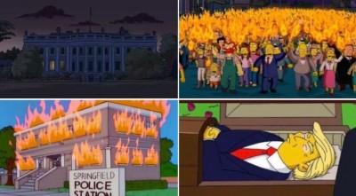 現代推背圖?網傳《辛普森》動畫預言美國暴動真相曝光