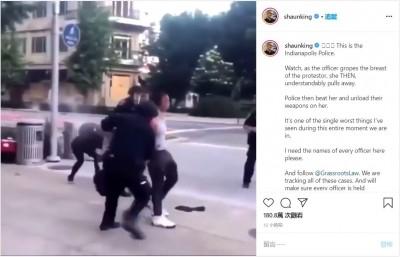 美警沒學乖!伸鹹豬手襲胸 非裔女掙脫慘被警棍圍毆