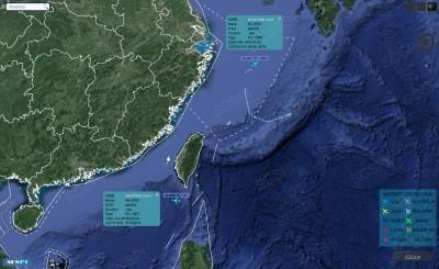 中國平台揭露:美2軍機今接近我國北部、南部外空域