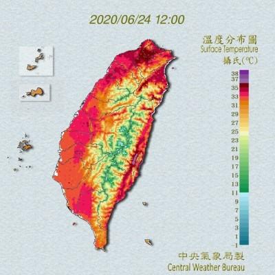 花蓮38.6度!14縣市高溫拉警報 台北也飆37.9度