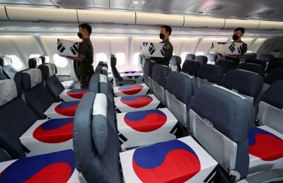 魂斷北韓近70年 147具南韓軍人遺骸由6架軍機伴飛返回故土