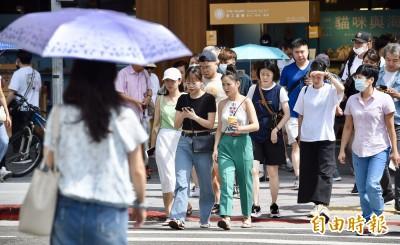 花蓮富源38.6度、台北38.2度!14縣市高溫警戒防熱傷害