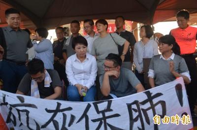 國民黨議員中火前靜坐抗議 盧秀燕探視猛批中央