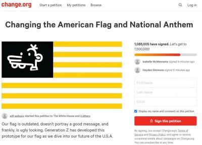 「星條旗」過時了?美國上百萬網友請願修改國旗