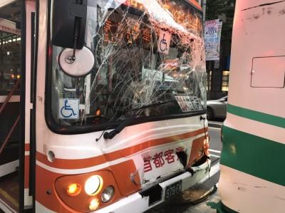 快訊》台北市忠孝東路2公車相撞  3傷2送醫