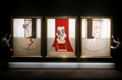 8460萬美元成交 英國畫家培根三聯畫高價拍賣