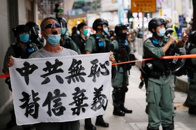 七一遊行港警拘捕逾180人 其中7人涉違「國安法」
