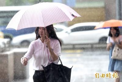 太平洋高壓減弱雨勢報到 各地防午後雷陣雨
