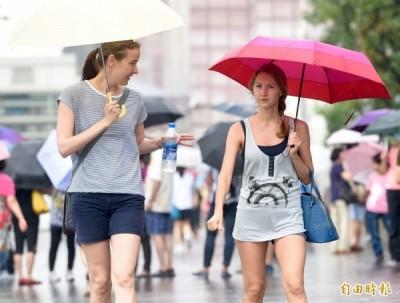 午後雷陣雨來了! 全台17縣市發布大雨特報