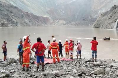 緬甸玉石場崩塌畫面曝光 至少逾百死、100人失蹤