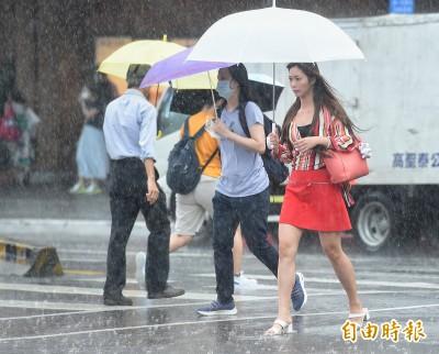 下班注意!17縣市發布豪雨、大雨特報