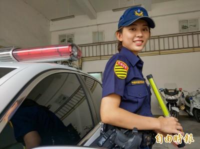 正妹女警讓北宜車友「戀愛了」 學長警告:取締絕不手軟