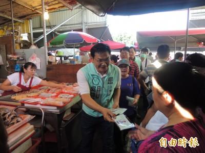 一早市場拜票  吳益政:能把菜市場做好、就會是最好的市長