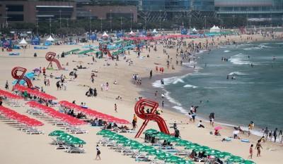 玩水也要戴口罩! 南韓海雲台海灘違規遊客最重罰7萬