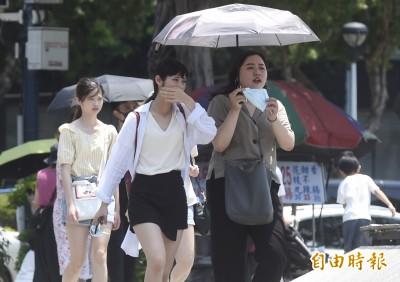 打破歷年7月最熱紀錄!台北飆38.9度 16縣市高溫拉警報