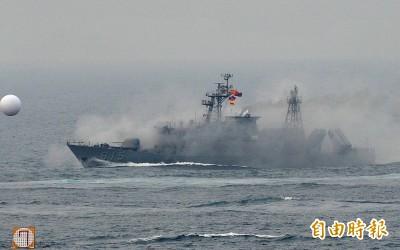 漢光演習》解放軍2間諜船情蒐 錦江級艦前往干擾監控