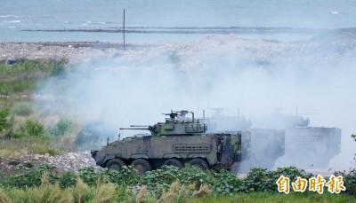 漢光演習》全台14處列紅色海灘 台中甲南海灘今灘岸殲敵實兵演練