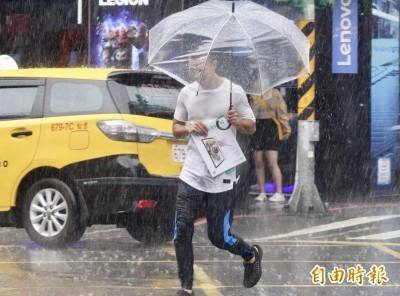 15縣市續發豪雨特報 台北一波大雷雨高溫降逾10度