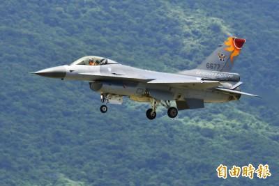 獨家》慶祝空軍建軍百年 F-16特技換彩繪機「小紅」上場