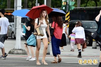 台北、南投又飆到38度 午後熱雷雨低窪防淹水