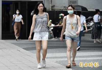 台北爆熱高溫達38度 中南部防午後雷陣雨