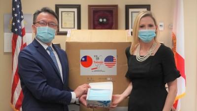 千萬口罩援美抗疫 美中央、地方政要感謝不間斷