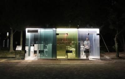 好害羞!日本東京出現「透明廁所」 原來是由建築奇才打造