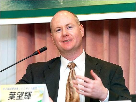 美國前副總統錢尼辦公室亞洲安全顧問葉望輝(Stephen J. Yates)。(記者王敏為攝)