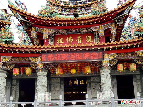 金玉禪寺供奉觀音佛祖,分靈自龍山寺,國曆九月三日將舉辦第一屆回鑾謁祖進香。(記者黃忠榮攝)