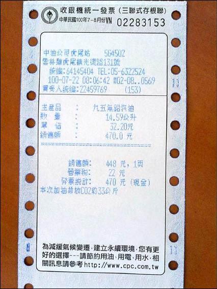 北市出版集團「臺灣麥克」員工在雲林縣加油,打了公司統編的三聯式發票中特獎千萬元,無法兌獎。(取自網路)