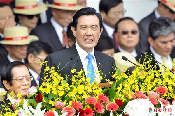 總統馬英九昨天參加國慶大典,於國慶文告中首度表示「兩岸關係不是國際關係」。(記者陳志曲攝)