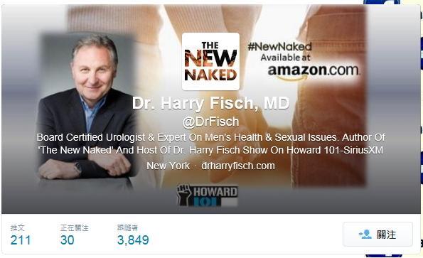 性學醫師哈理費許在新書中表示,A片看多了可能會影響性功能。(圖片擷取自twitter)
