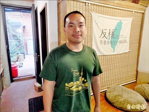白米炸彈客楊儒門認為要實踐才能改變社會。(記者郭安家攝)