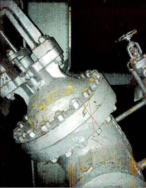 核四廠圍阻體洩漏測試發現洩漏,一旦運轉安全堪慮;環團人士認為,部分閥門使用二手貨和洩漏可能有關係。(圖:核四員工提供)