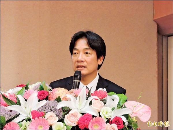 自由經濟示範區台南場說明會,台南市長賴清德提出十大質疑。(記者洪瑞琴攝)
