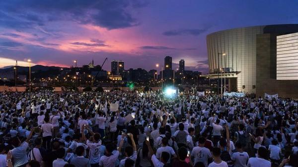 澳門525運動在昨日達到訴求,成功使特首撤回法案,活動發起組織之一的「澳門良心」在專頁說:「2014年5月29日,注定是澳門人勝利的一天!」(圖擷取自澳門良心臉書)