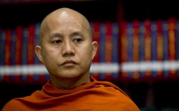 緬甸迫害少數宗教的情形嚴重,佛教領袖阿欣威拉杜(Ashin Wirathu)還有「緬甸賓拉登」之稱。(節自網路)