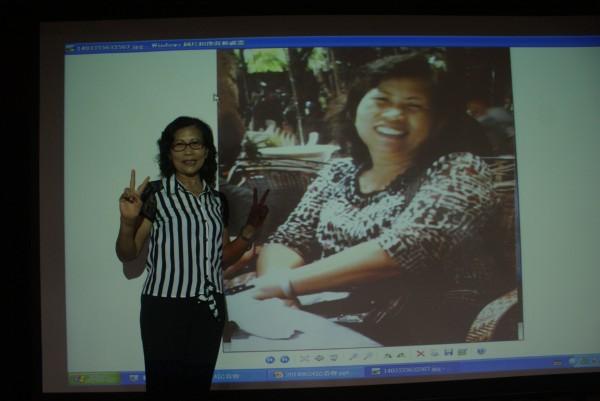 李姓婦人參加高醫減重班,短短8個月成功瘦下20公斤。(記者黃佳琳攝)