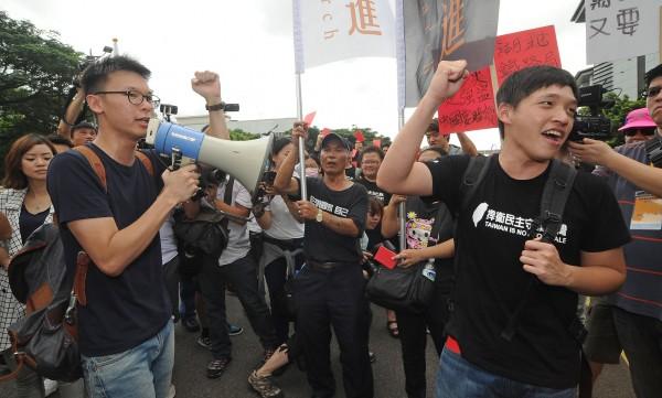 新黨主席郁慕明嗆聲林飛帆、陳為廷,要他們「出來選」。(資料照,記者劉信德攝)